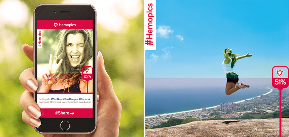 Hemopics : l'application de partage de photos qui incite au don du sang