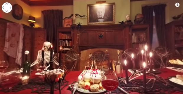 Interieur maison halloween - Maison decoree halloween ...
