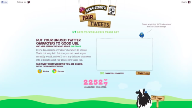 L'application Ben & Jerry's recycle vos tweets incomplets