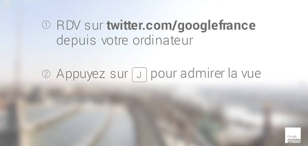 Google transforme son fil Twitter en flipbook panoramique de Paris
