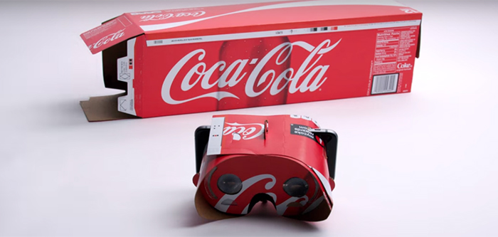 Coca-Cola transforme son packaging en casque de réalité virtuelle