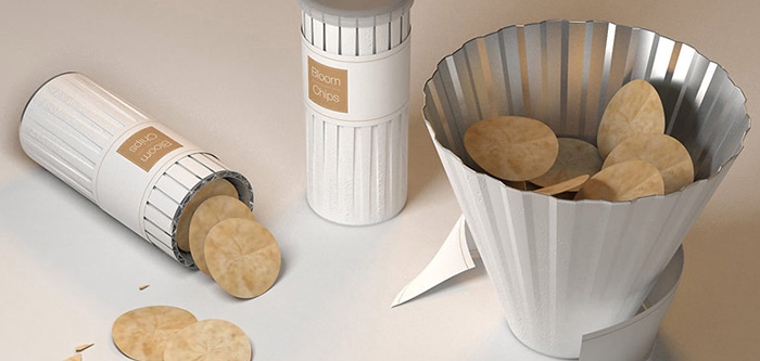 Un packaging de chips qui se transforme en bol