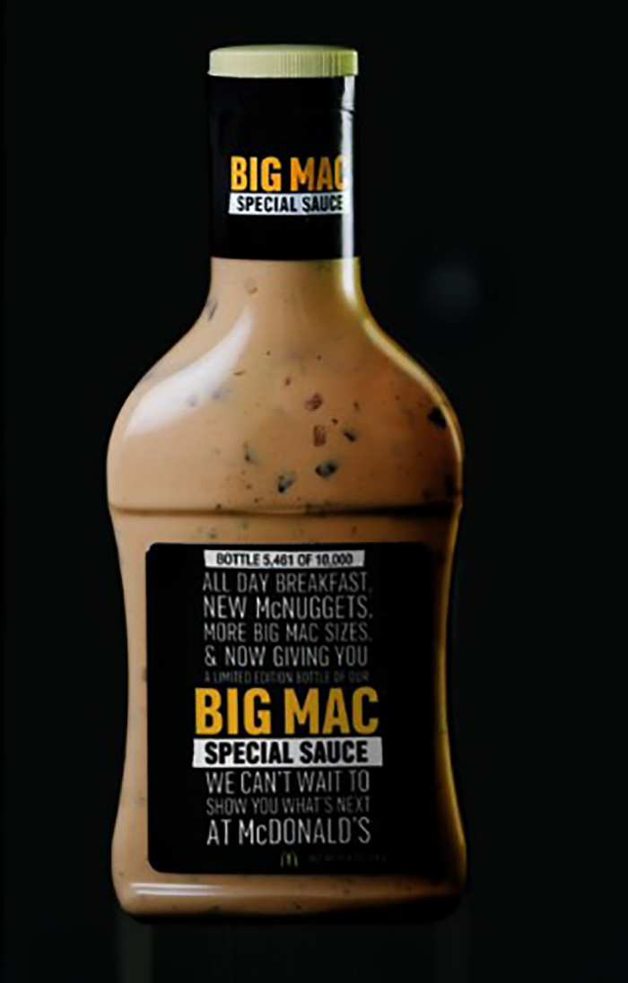McDonald's va commercialiser la mythique sauce du Big Mac