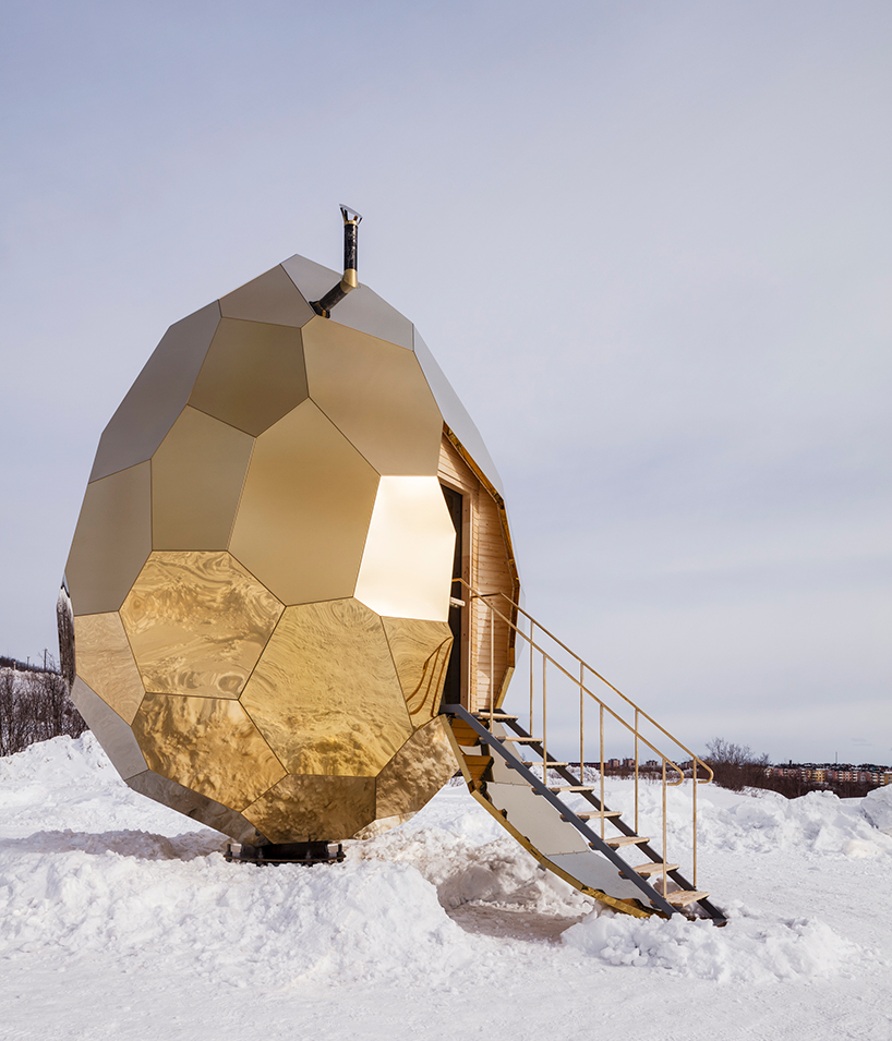 Un oeuf qui fait office de saune en Suède