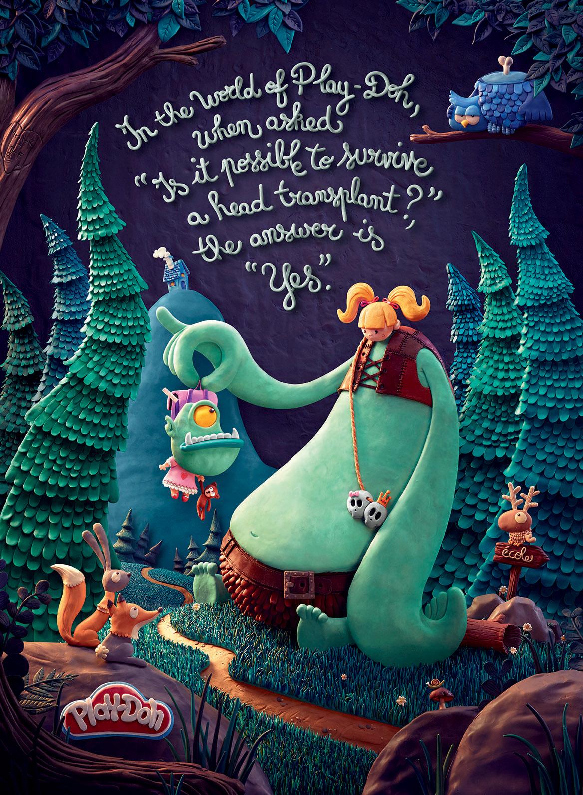 Play-Doh crée des affiches avec 948 pots de pâtes à modeler