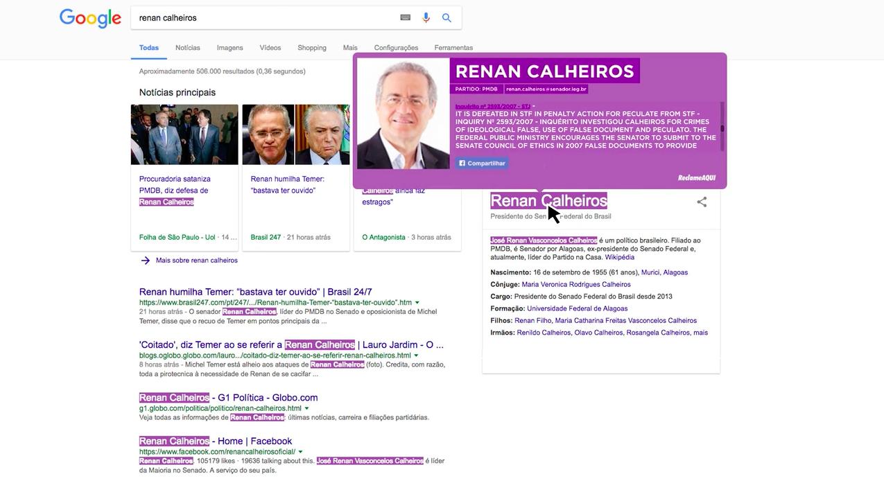 Ce plugin web surligne les noms des politiques accusés de corruption