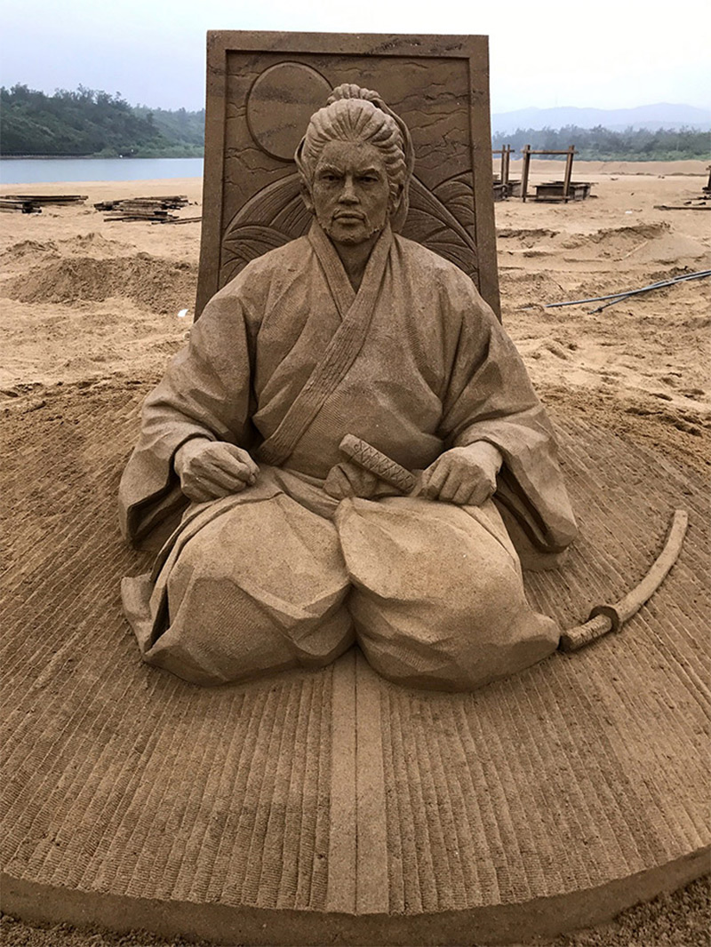 Les surprenantes sculptures de sable de Toshihiko Hosaka