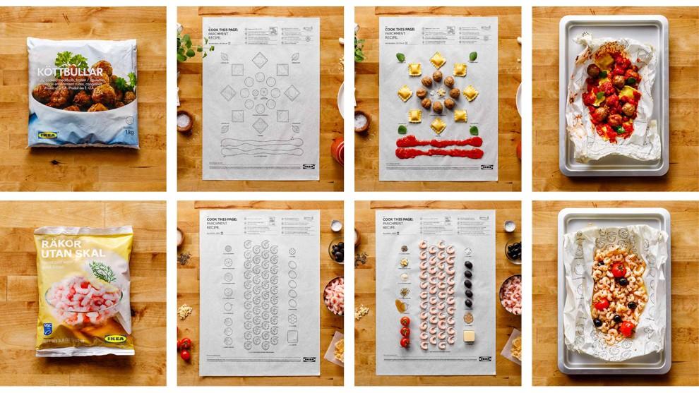 ikea d tourne ses notices de montage pour cr er des recettes de cuisine. Black Bedroom Furniture Sets. Home Design Ideas