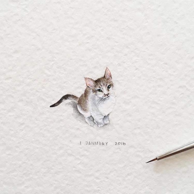 Minuscules !!!! - Page 2 Dessins-animaux-adorables-miniatures-8