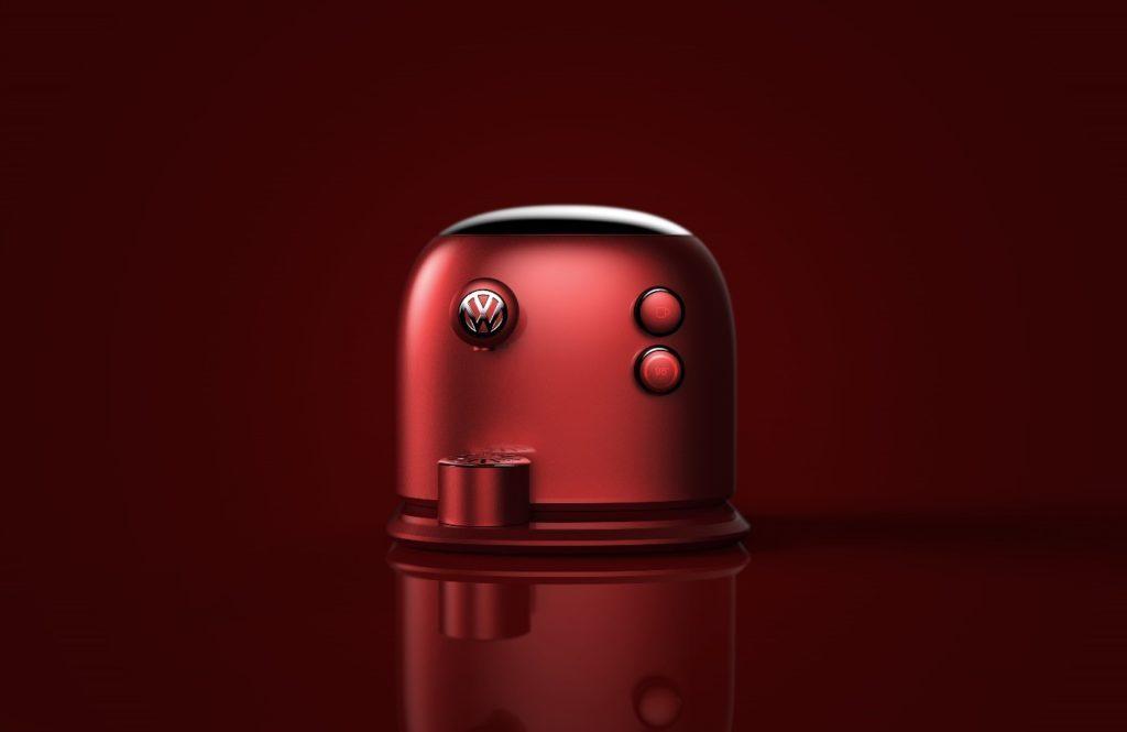 Cette machine à café rend hommage au design du combi Volkswagen