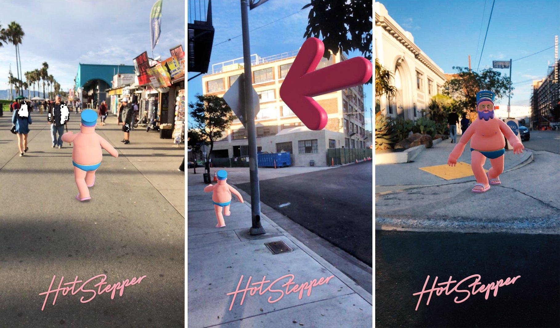 HotStepper, le GPS qu'il faut suivre grâce à la réalité augmentée