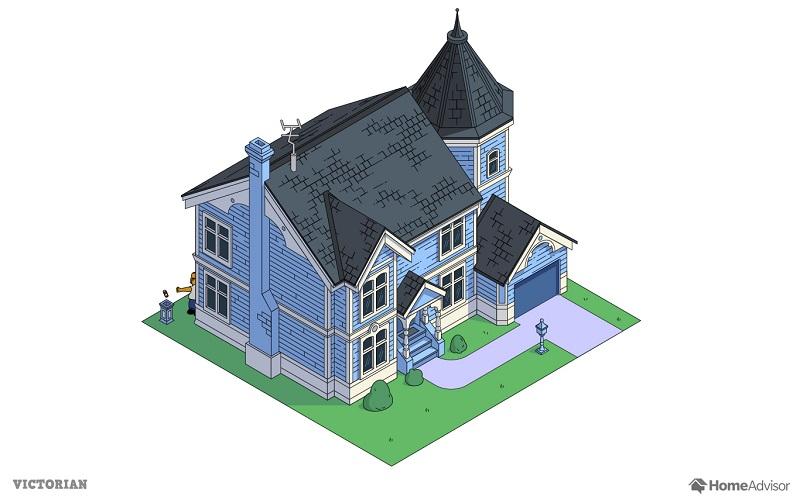 Il imagine la maison des Simpson dans 7 styles architecturaux différents
