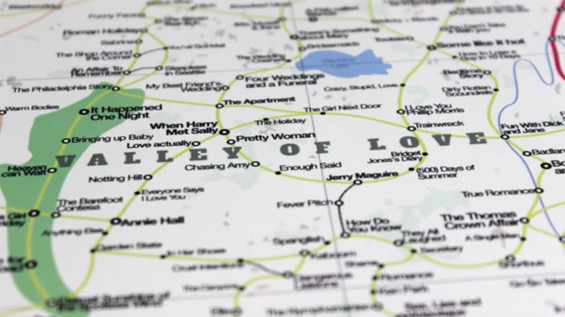 Movieland : une carte géographique composée de 1800 films