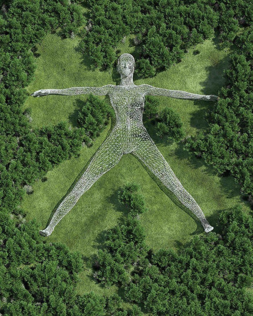 Les sculptures en harmonie avec la Nature de Chad Knight