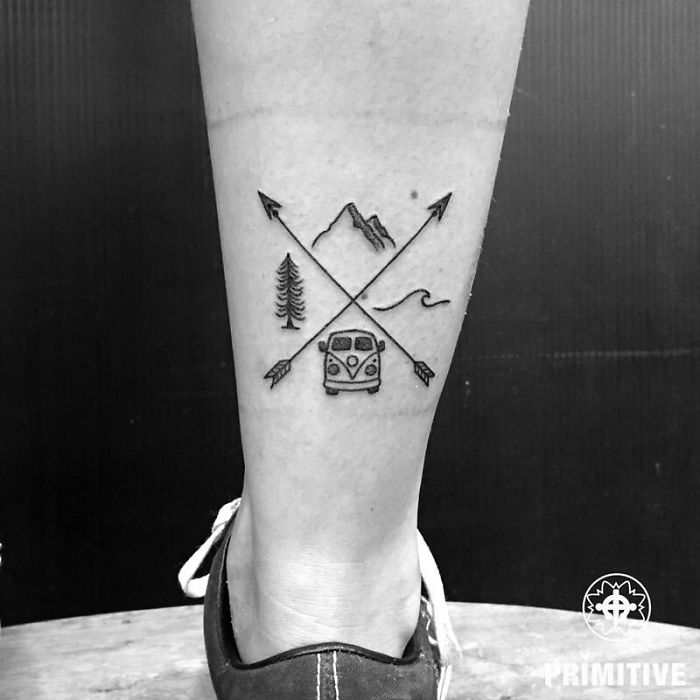 20 tatouages créatifs qui vont vous donner envie de voyager