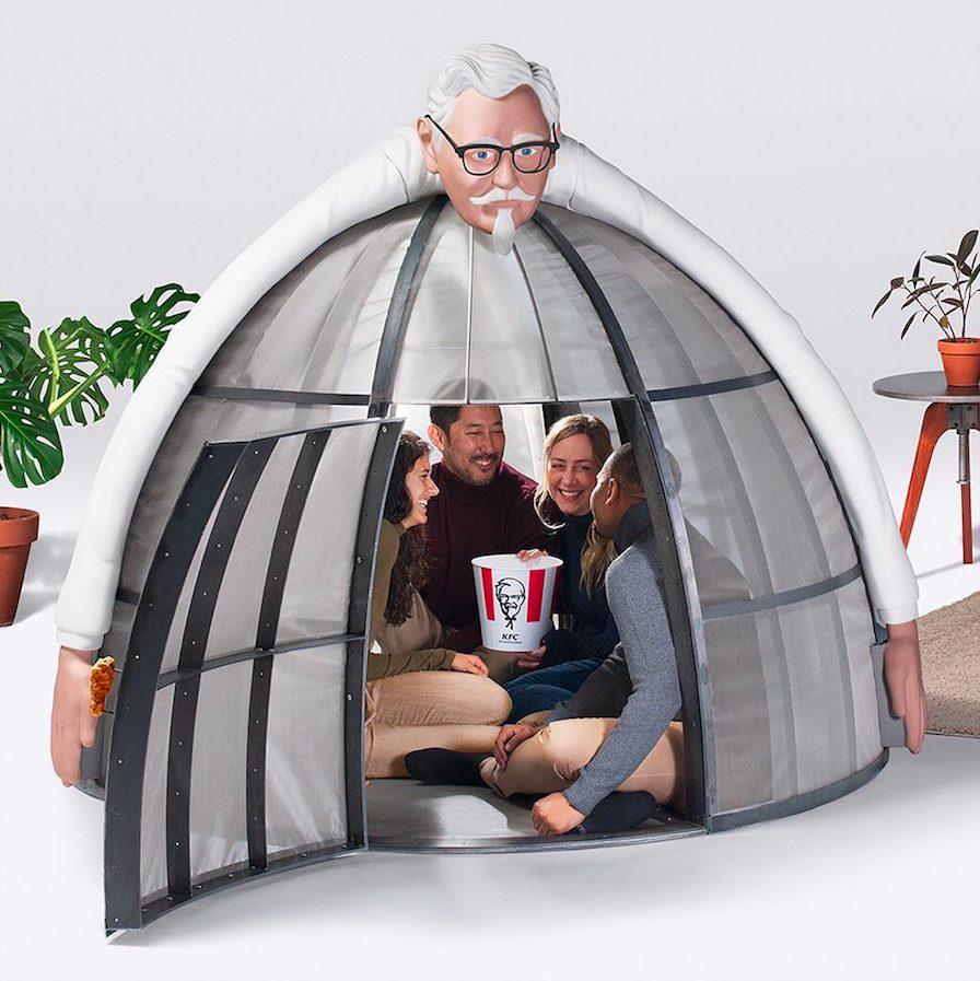 KFC a créé une tente pour échapper à internet