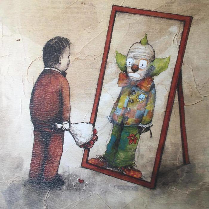 Illustrations sarcastiques de notre société par Dran : le Banksy français