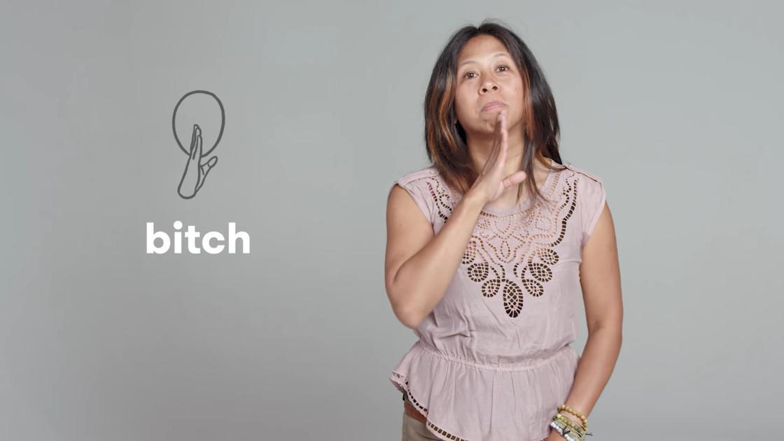 les insultes en langage des signes