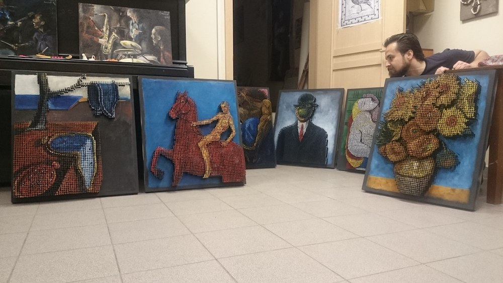Marat Nabi recrée des peintures célèbres en utilisant de simples vis