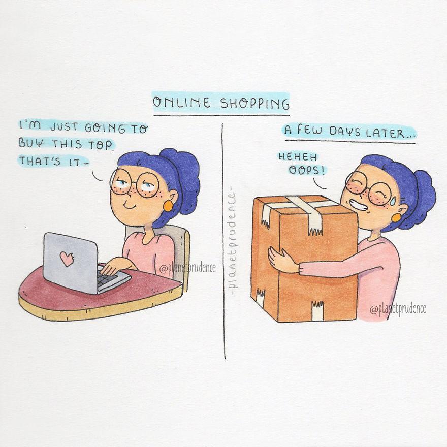 Ses Cette Avec Problèmes Femme Humour De Illustratrice Expose Un EEq1S