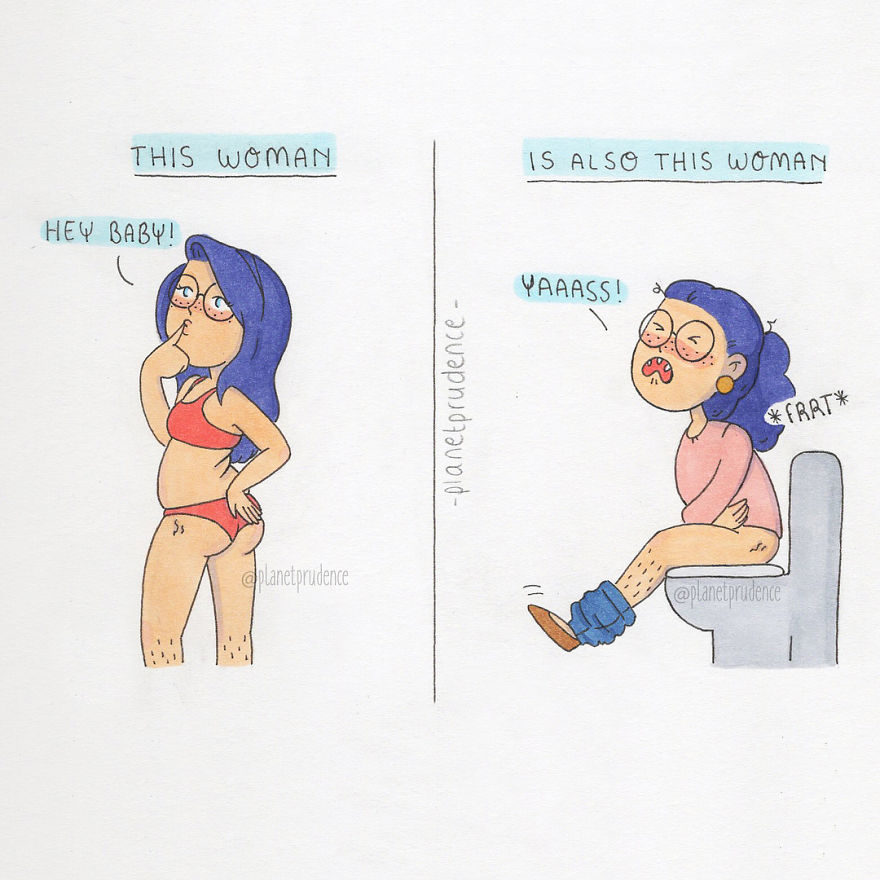 Planet Prudence illustre ses problèmes de femme avec beaucoup d'humour et d'autodérision
