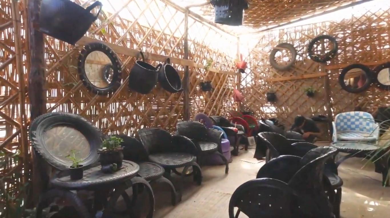 Upcyclemo recycle les pneus en meubles tendance