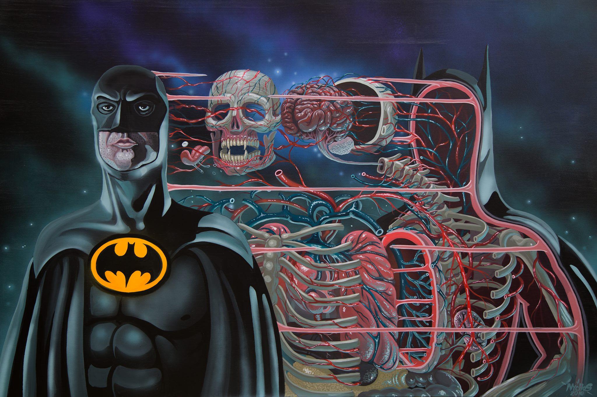 Passionné d'anatomie, le street artiste Nychos dissèque littéralement tous ses dessins