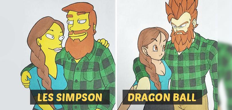 Kells O'Hickey dessine son couple dans le style graphique de 10 dessins animés célèbres