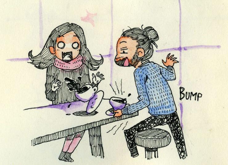 Simz dessine chaque moment de sa première rencontre avec sa petite amie