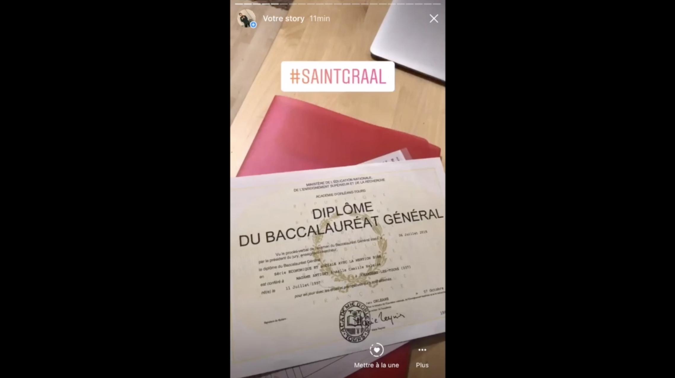 Mieux qu'un CV papier... elle présente son CV sur Instagram Stories