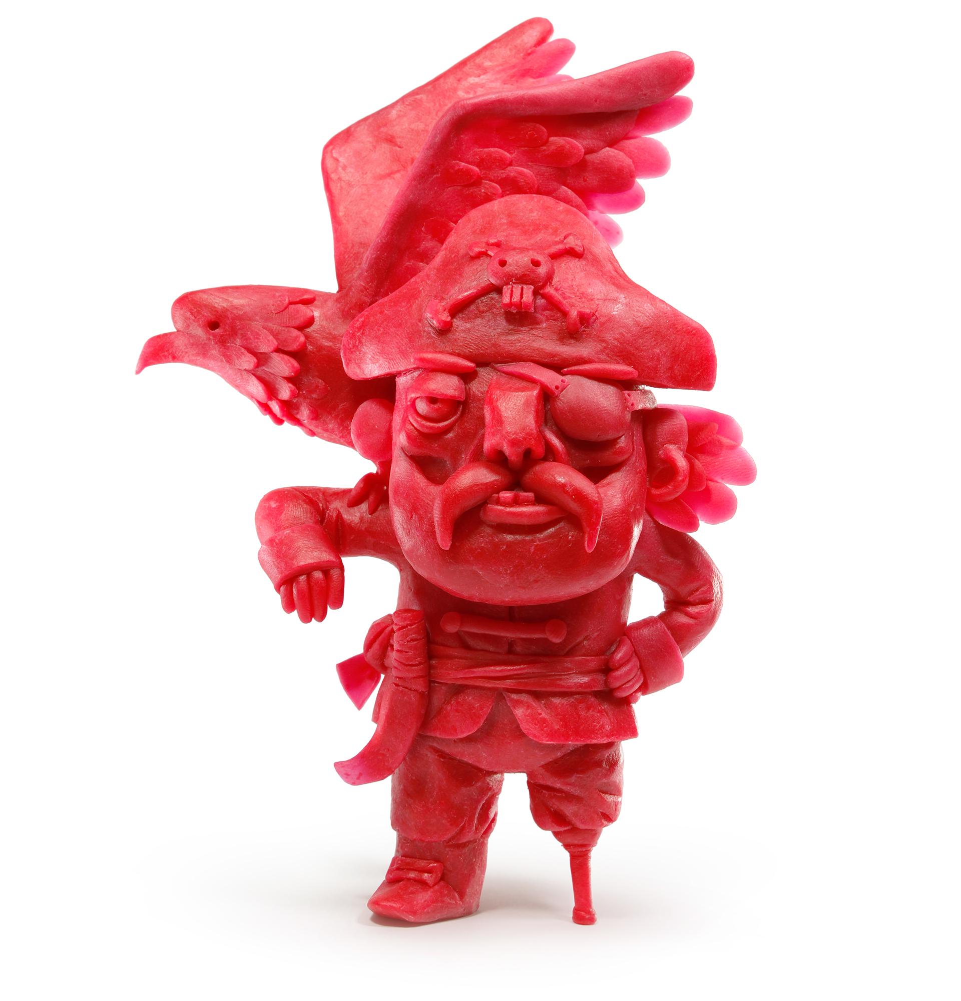 Gianluca Maruotti joue avec la peau des Babybel pour faire évoluer des sculptures amusantes