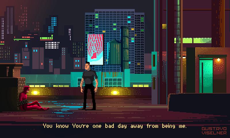 Gustavo Viselner rend hommage aux films et séries célèbres façon jeux vidéo pixelisés