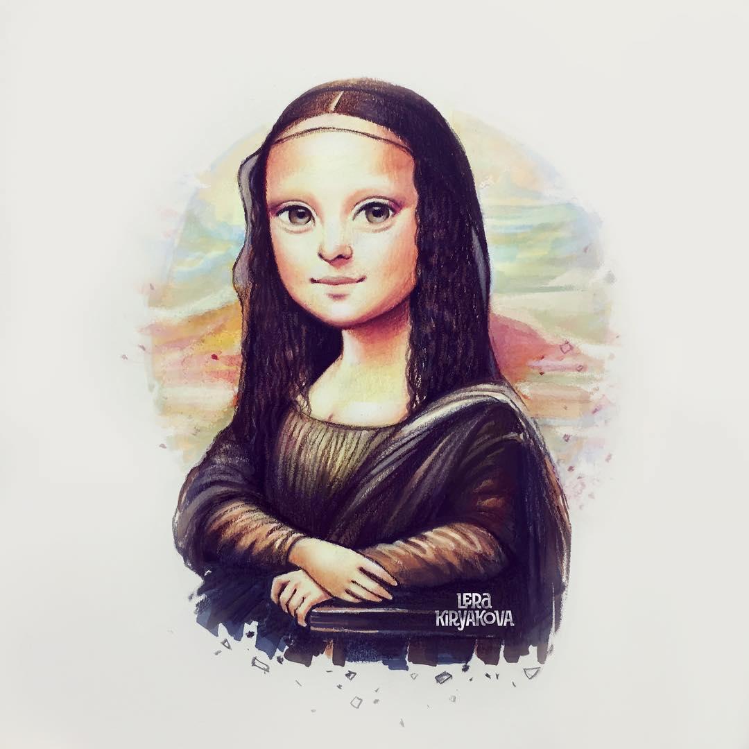 Lera Kiryakova transforme les icônes populaires en personnages mignons aux gros yeux