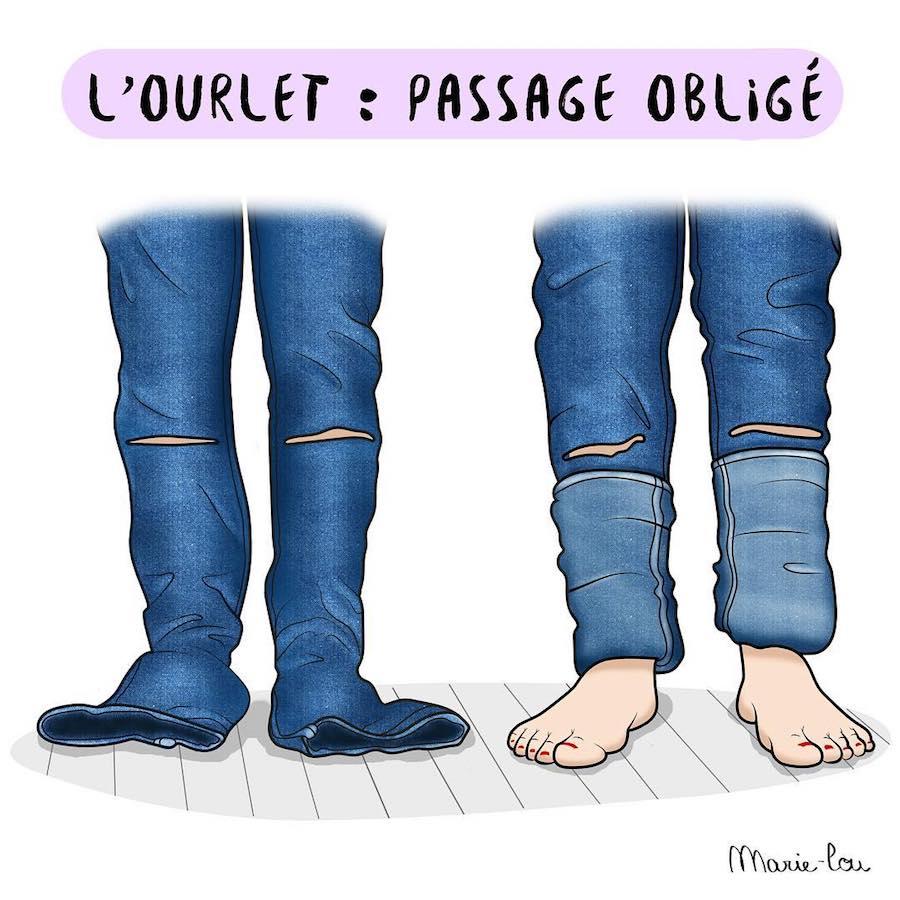 Les p'tites meufs : l'illustratrice Marie-Lou Lesage s'amuse de sa petite taille sur Instagram