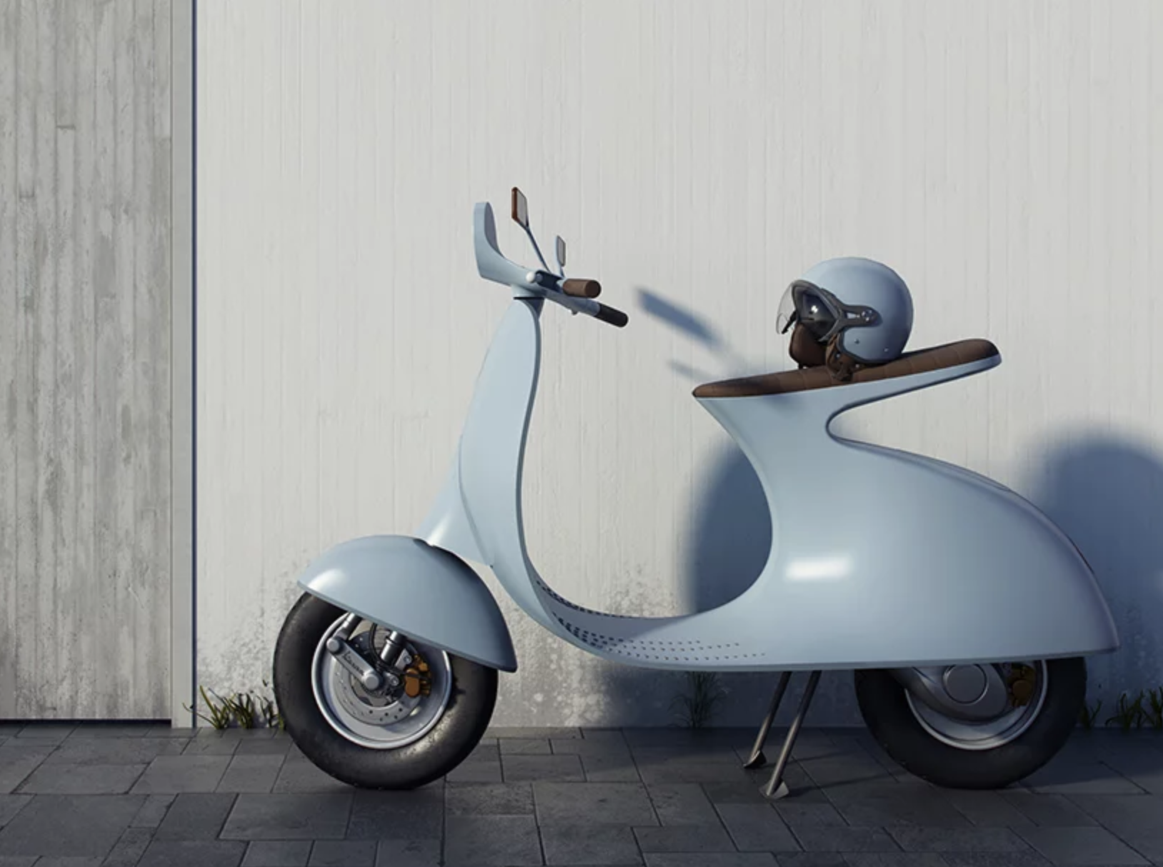Ce designer réinvente le Vespa avec un concept futuriste et 100% électrique