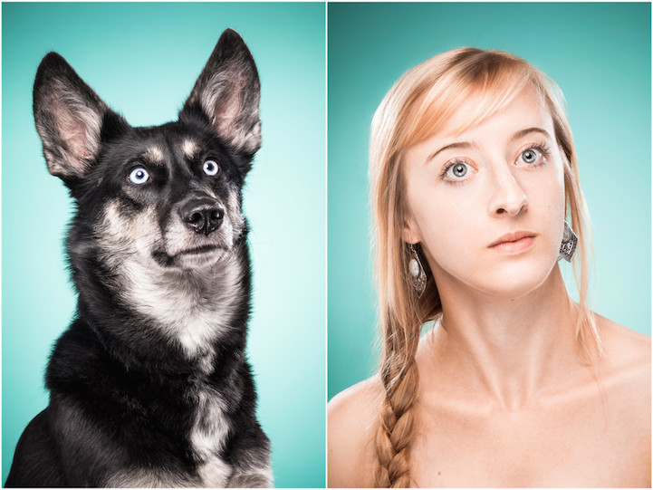 Ces maîtres copient les mimiques de leur chien dans un projet photo étonnant