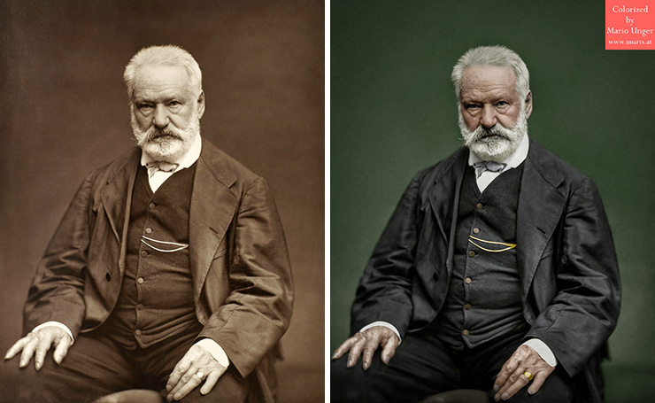 He spends more than 3000 hours colorizing old celebrity photos