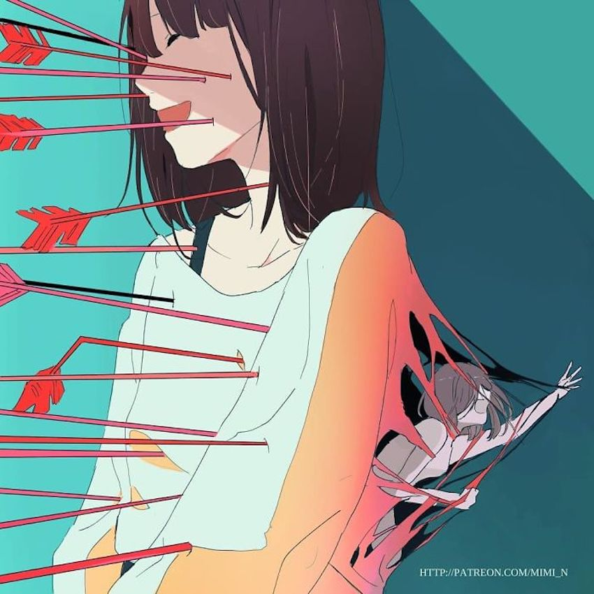 25 creative and dark illustrations that alarm about the problems of our society 23