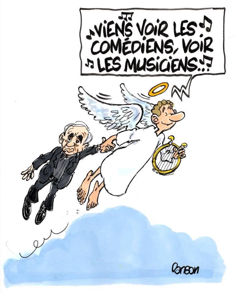Charles Aznavour l'hommage des illustrateurs  42999686_1904611129605950_3161096501086650368_n
