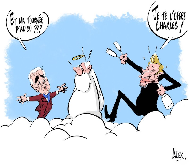 Charles Aznavour l'hommage des illustrateurs  Alex