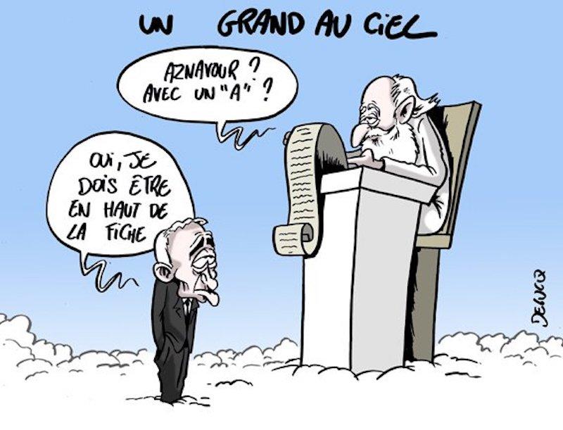 Charles Aznavour l'hommage des illustrateurs  Dubucq