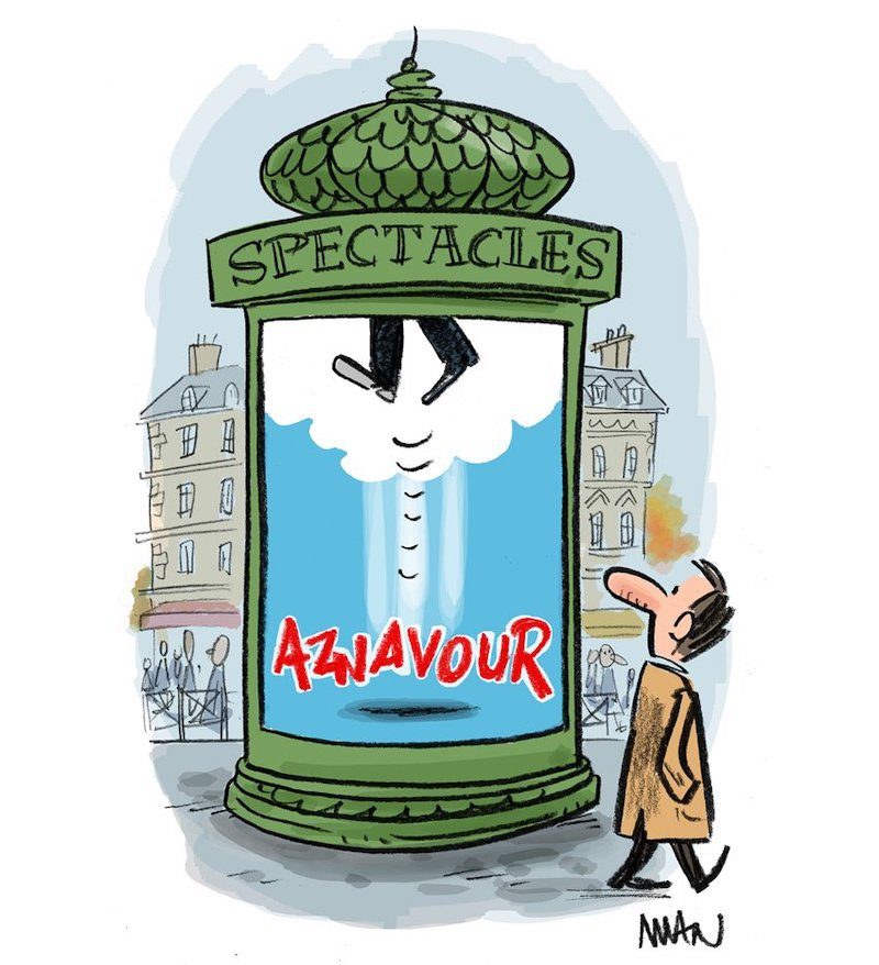 Charles Aznavour l'hommage des illustrateurs  Man-Midi-Libre