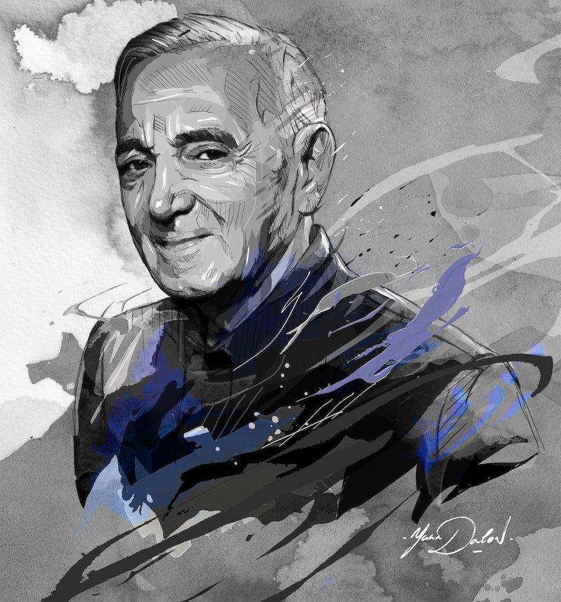 Charles Aznavour l'hommage des illustrateurs  Yann-Dalon