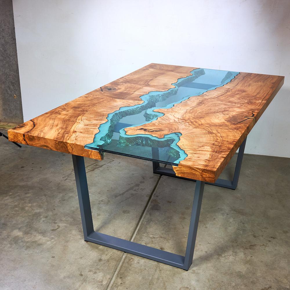 table verre bois spartakiev. Black Bedroom Furniture Sets. Home Design Ideas