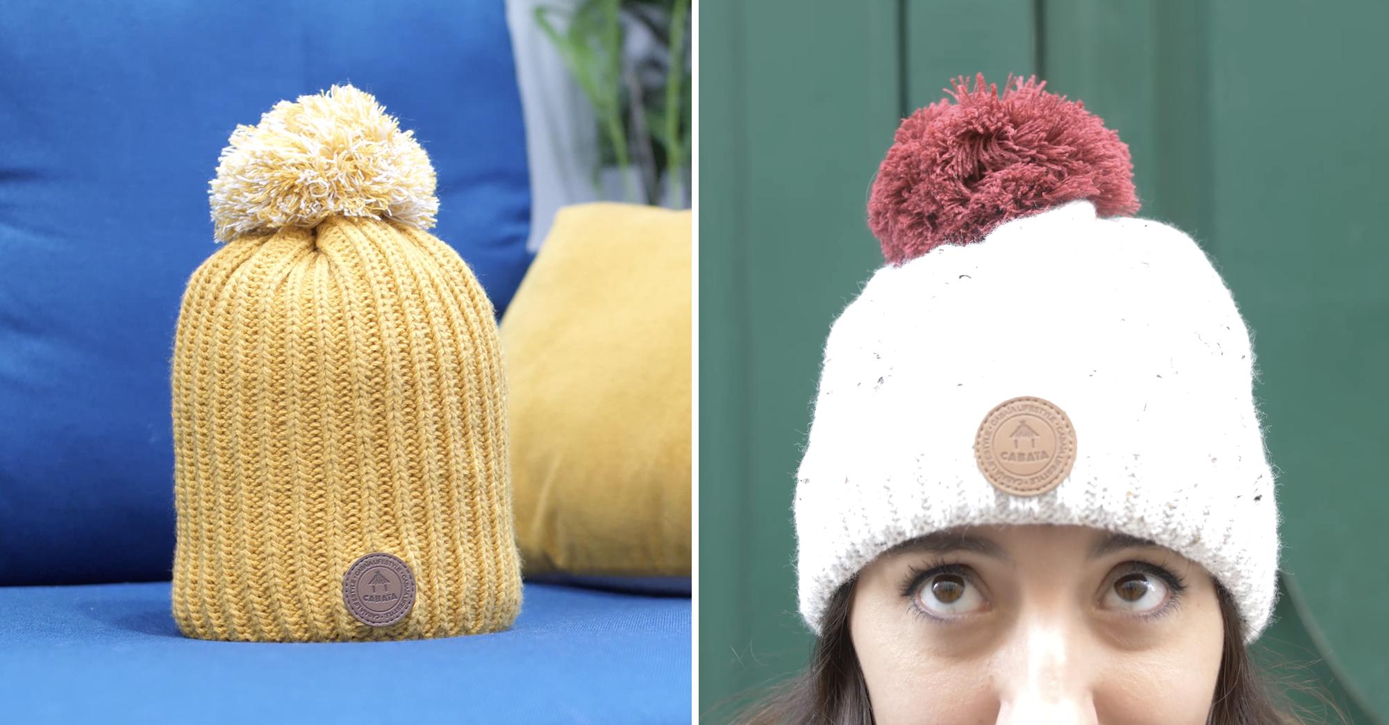 Cabaïa  le bonnet créatif dont le pompon se change pour s\u0027adapter à votre  look , Creapills