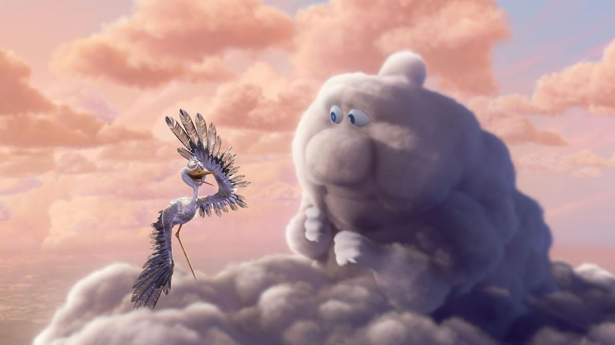 Pixar met en scène des nuages et des cigognes qui apportent la vie sur Terre ! By Mélissa N.   Partly-cloudy-pixar-nuages-cigognes-vie-1