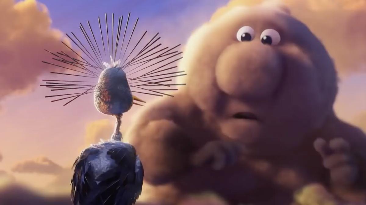 Pixar met en scène des nuages et des cigognes qui apportent la vie sur Terre ! By Mélissa N.   Partly-cloudy-pixar-nuages-cigognes-vie-3