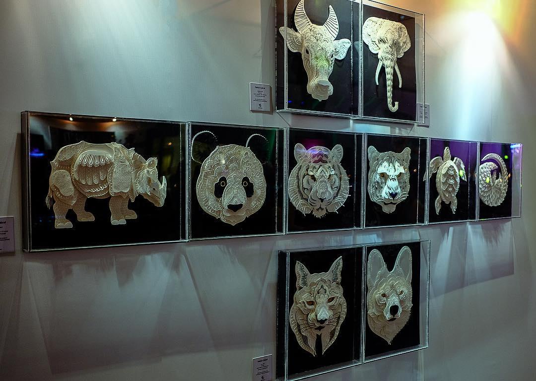 Avec du simple papier, il réalise de superbes portraits d'animaux en voie de disparition Patrick-cabral-papier-portraits-animaux-25