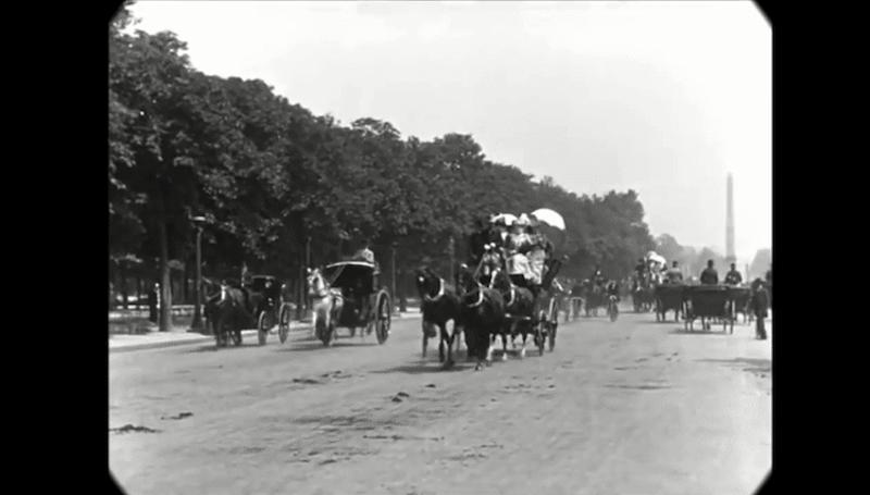 Cet impressionnant film restauré nous fait découvrir le Paris des années 1900 avec une qualité unique ! By  Claire L. Reconstitution-paris-vintage-1890-lumiere-freres-3