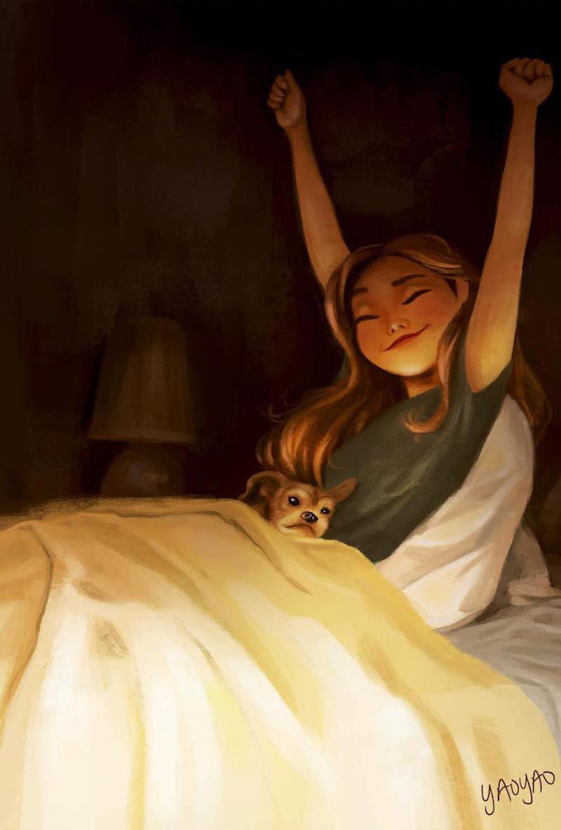 20 adorables illustrations qui montrent à quel point la vie est belle lorsqu'on la partage avec un chien